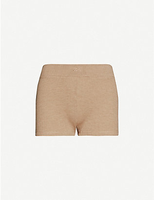 REEBOK X VICTORIA BECKHAM: Ribbed wool-blend shorts