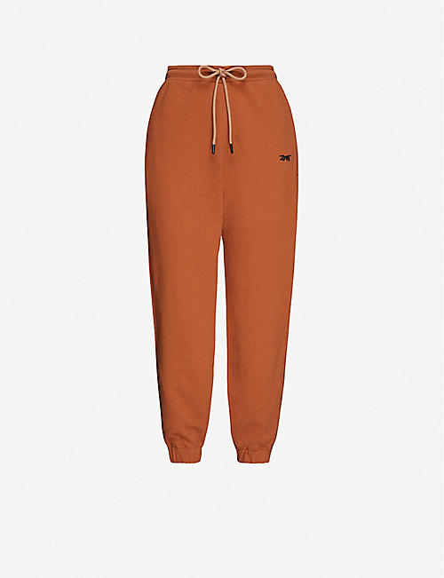REEBOK X VICTORIA BECKHAM: Branded mid-rise cotton-knit jogging bottoms