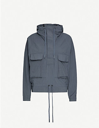 REEBOK X VICTORIA BECKHAM: Hooded high-neck woven jacket