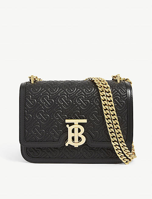 BURBERRY TB monogram small leather shoulder bag