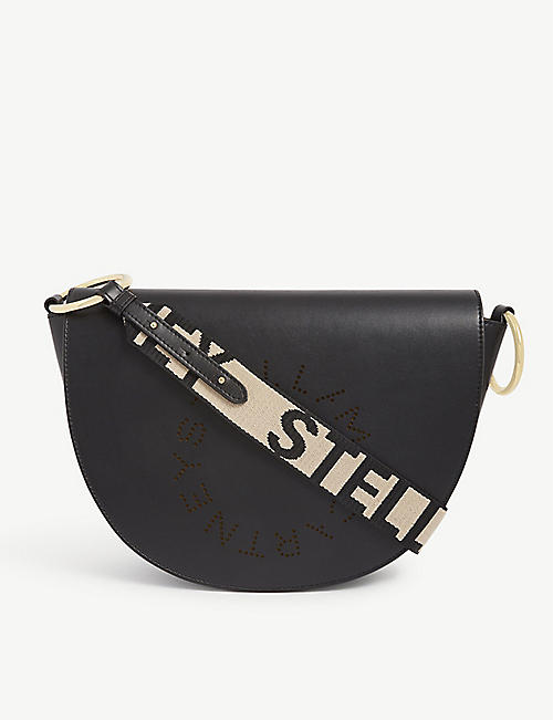 STELLA MCCARTNEY Marlee perforated logo shoulder bag