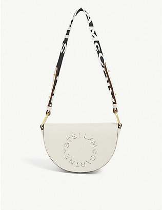 STELLA MCCARTNEY: Marlee perforated logo shoulder bag