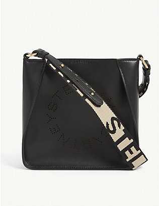 STELLA MCCARTNEY: Logo vegan leather shoulder bag