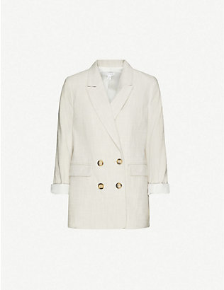 TOPSHOP: Saturday doubled-breasted cotton blazer
