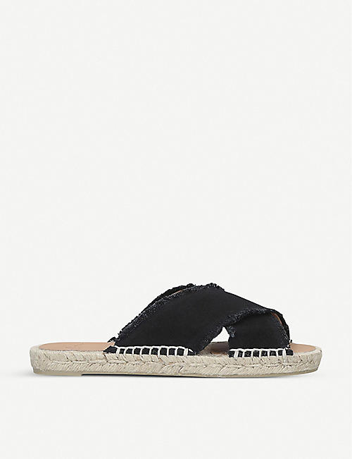 CASTANER: Palmera cross-strap cotton-canvas espadrilles
