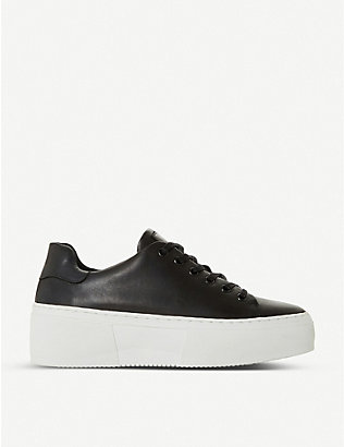 BERTIE: Electaa leather platform trainers
