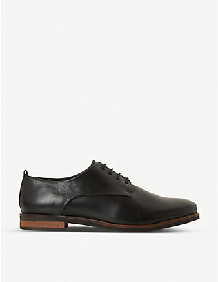 BERTIE: Farley leather derby shoes