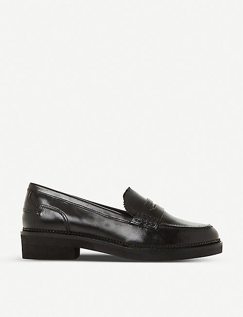BERTIE: Genny saddle strap leather loafers