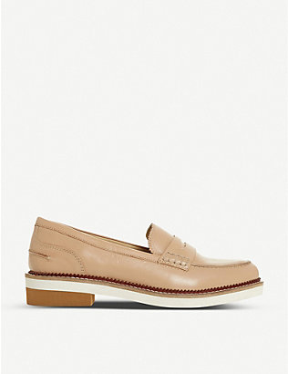 BERTIE: Genny saddle-strapped leather Penny loafers