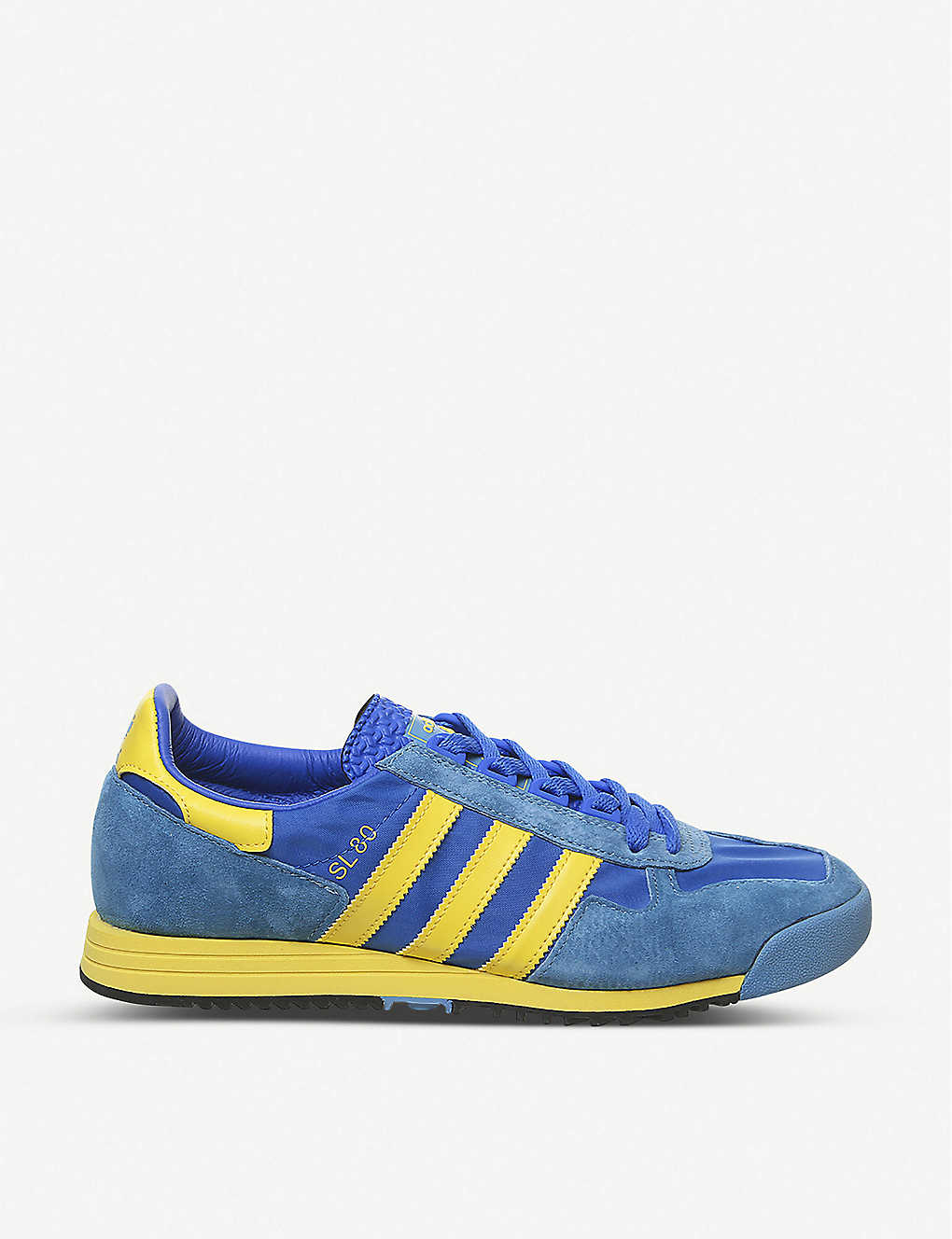 ADIDAS: SL 80 suede and nylon trainers