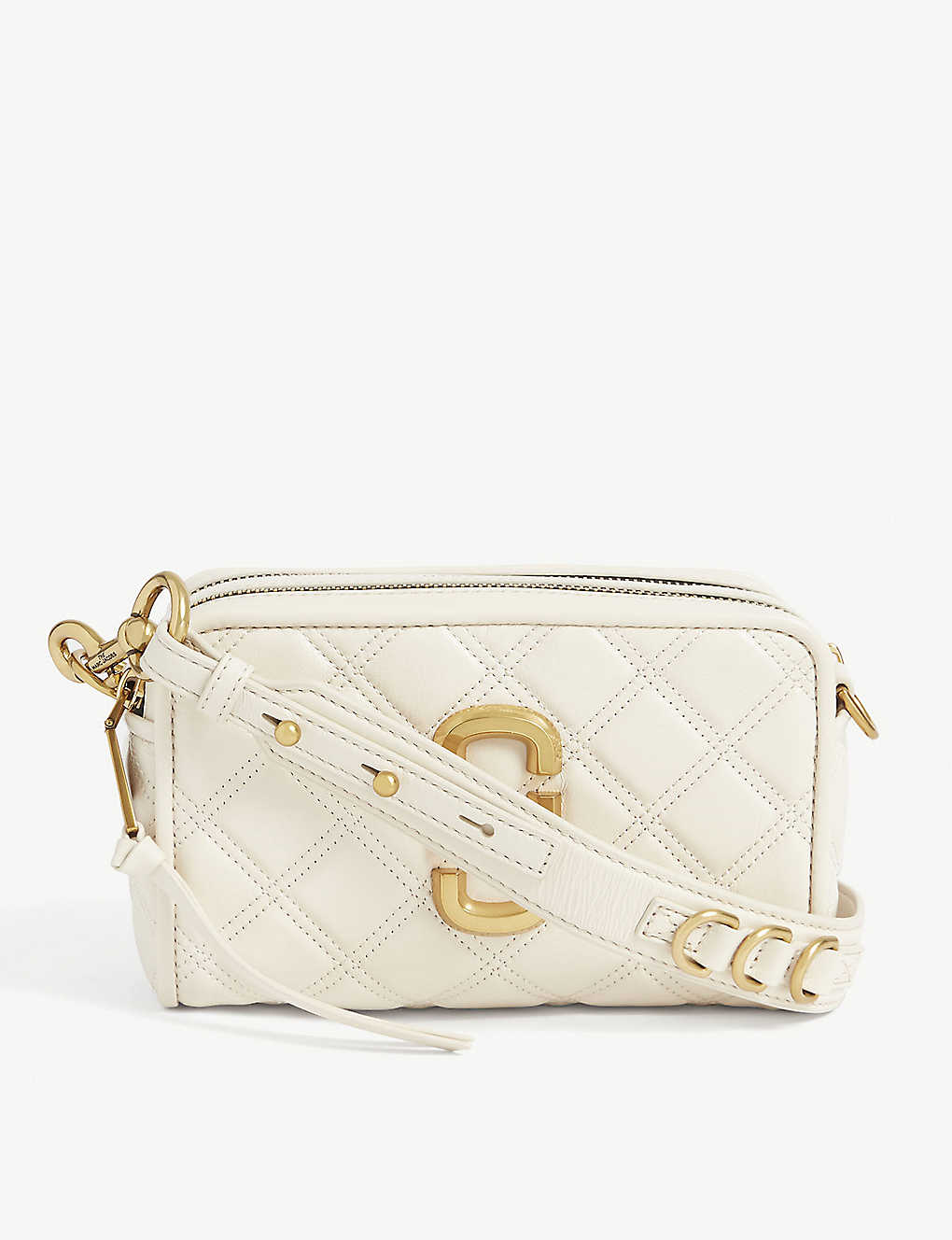 MARC JACOBS: Softshot quilted leather crossbody bag