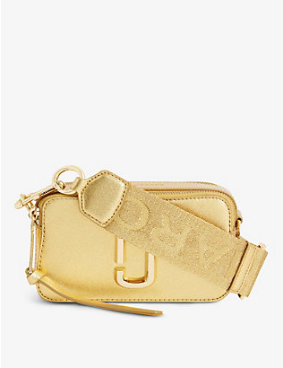 MARC JACOBS: Snapshot metallic leather cross-body bag