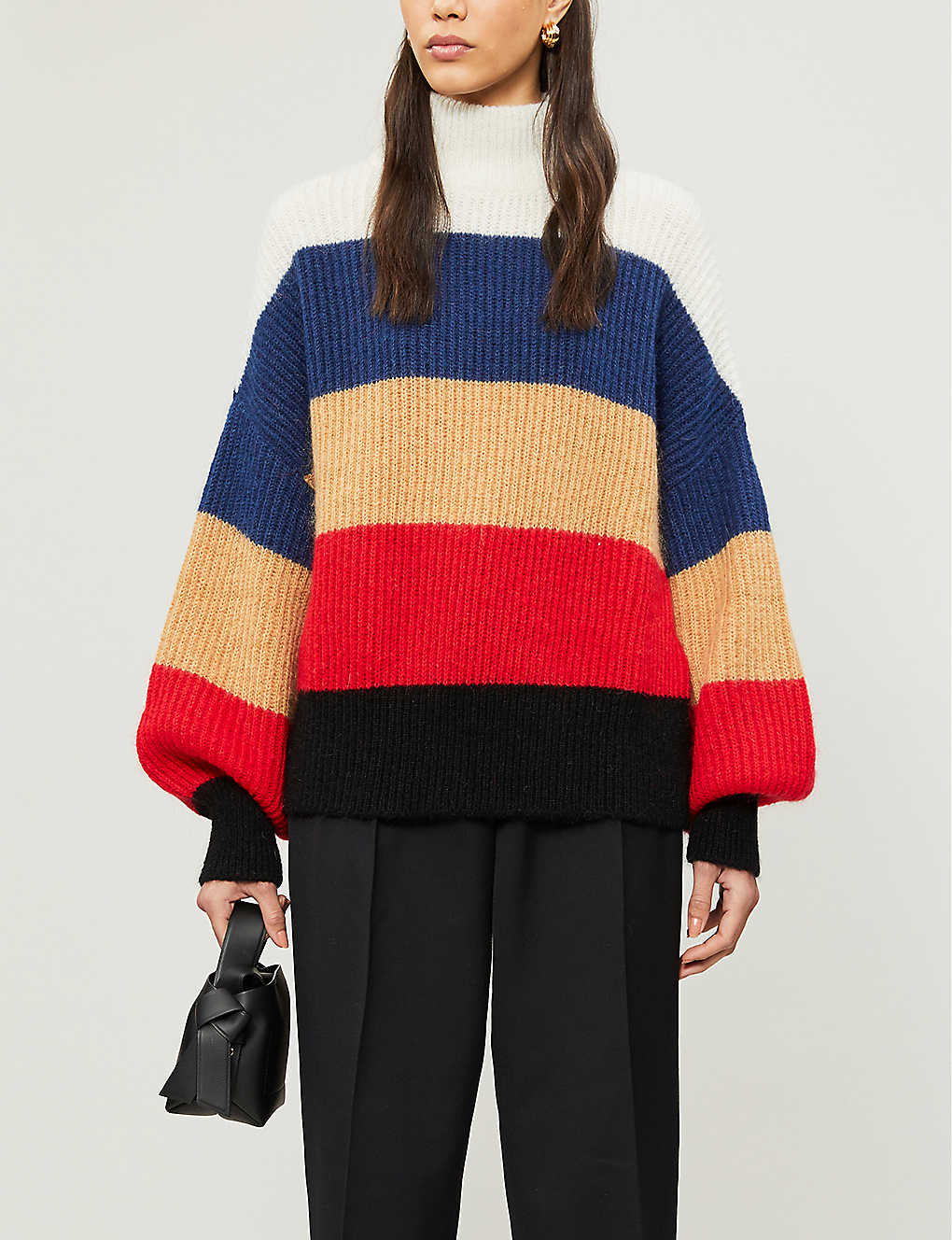 WON HUNDRED: Blakely striped knitted jumper