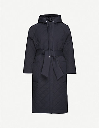 WON HUNDRED: Donna hooded cotton-blend coat