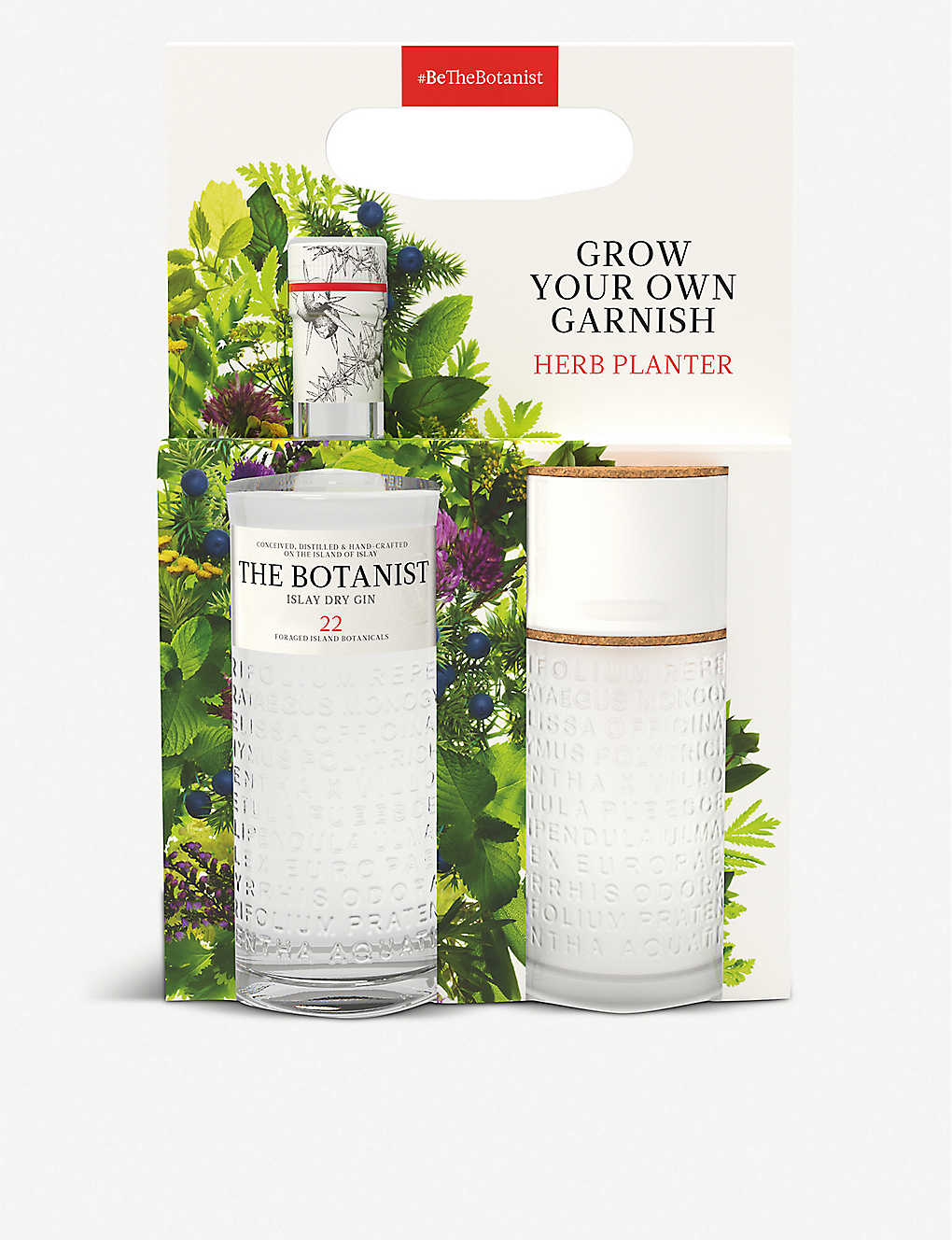 GIN: The Botanist gin and herb planter set 700ml