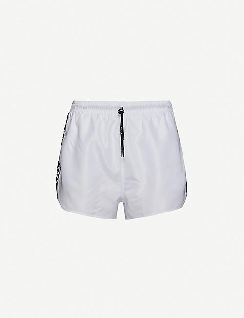 HUGO: Logo-print regular-fit swim shorts