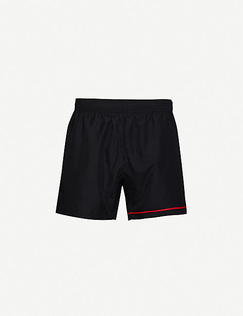 HUGO: Contrast-trim regular-fit swim shorts