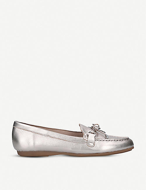 ALDO: Adrerinia metallic leather loafers