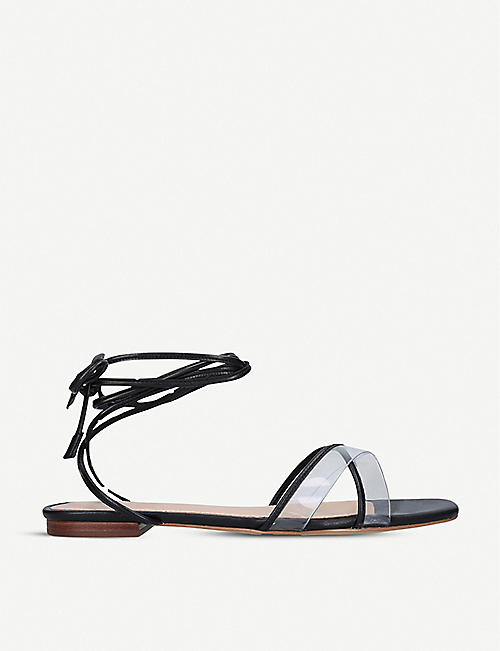 ALDO: Candid lace-up faux-leather and perspex sandals