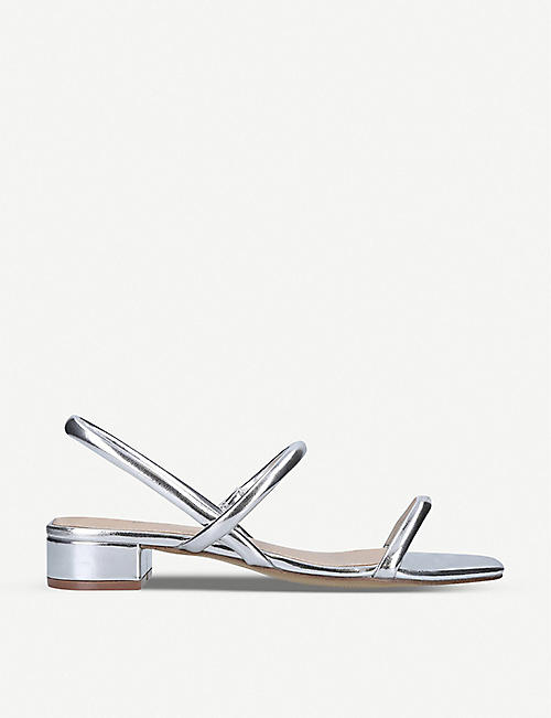 ALDO: Candidly square-toe metallic faux-leather heeled mules