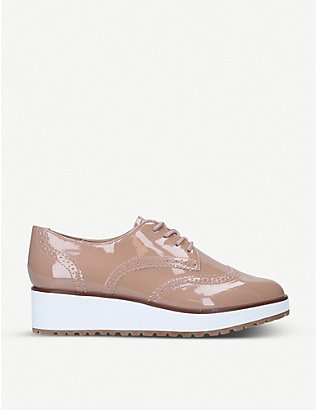 ALDO: Lamazons patent-leather flatform brogues