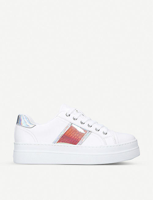 ALDO: Starburst faux-leather flatform low-top trainers