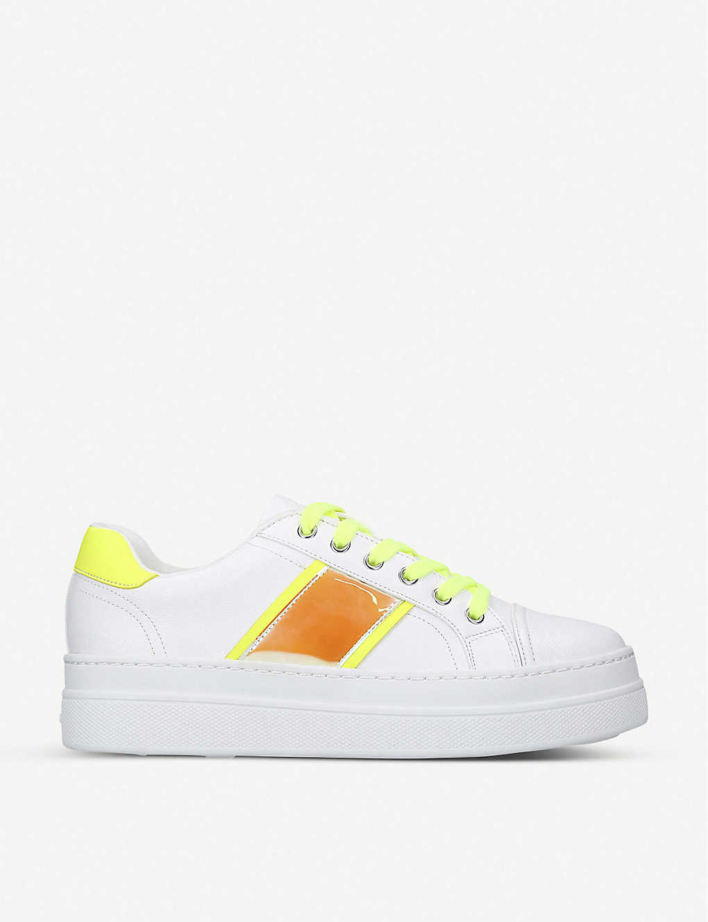 ALDO: Starburst faux-leather trainers