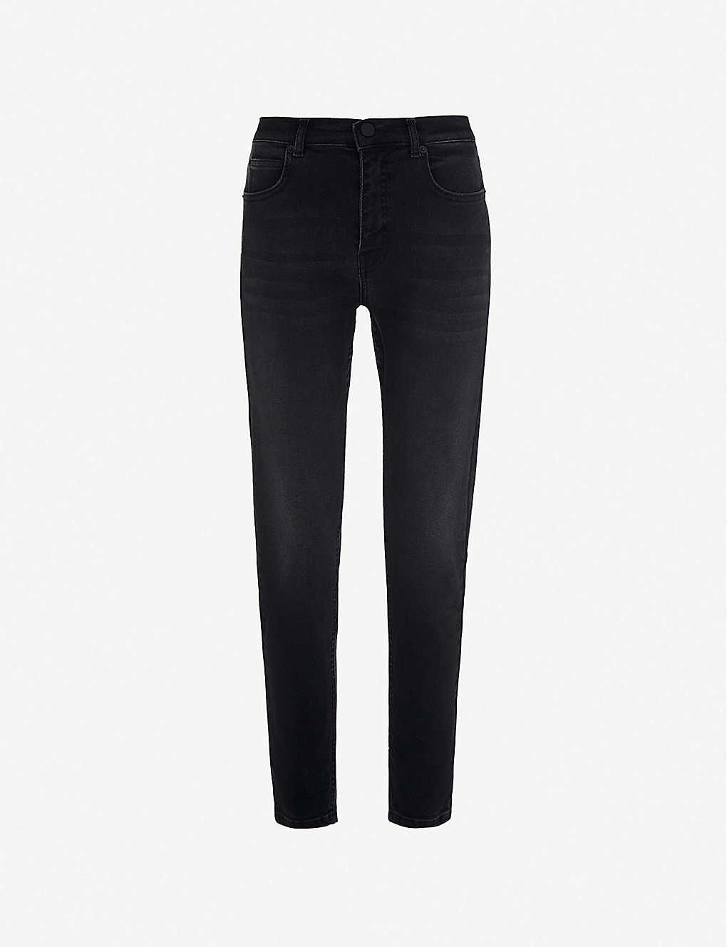 WHISTLES: Sculpted skinny mid-rise jeans
