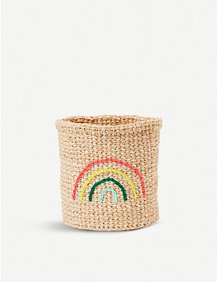 THE CONRAN SHOP: The Basket Room rainbow-embroidered sisal basket 15cm