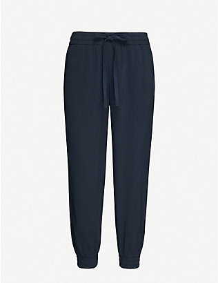 BELLA DAHL: Easy cropped high-rise woven jogging bottoms