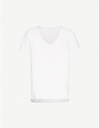 BELLA DAHL: V-neck relaxed-fit cotton-jersey T-shirt