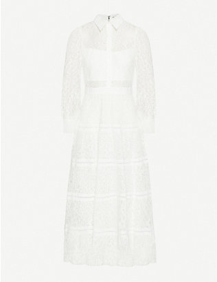 ALICE & OLIVIA: Anaya tiered lace maxi dress