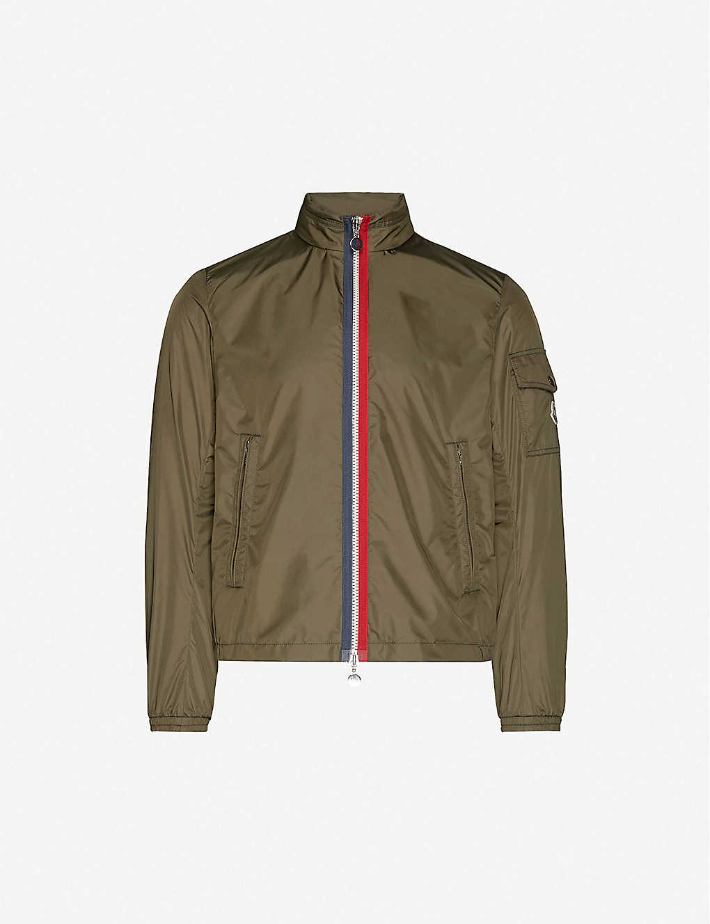 MONCLER: Hooded funnel-neck shell jacket