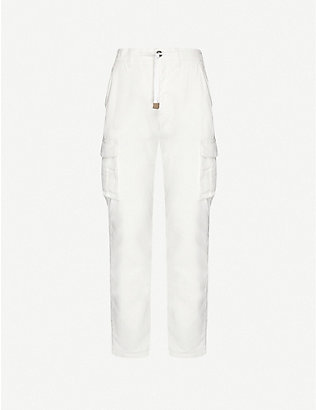 ELEVENTY: Cargo slim stretch-cotton corduroy trousers