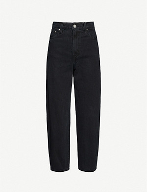 LEVI'S Cropped wide-leg high-rise jeans