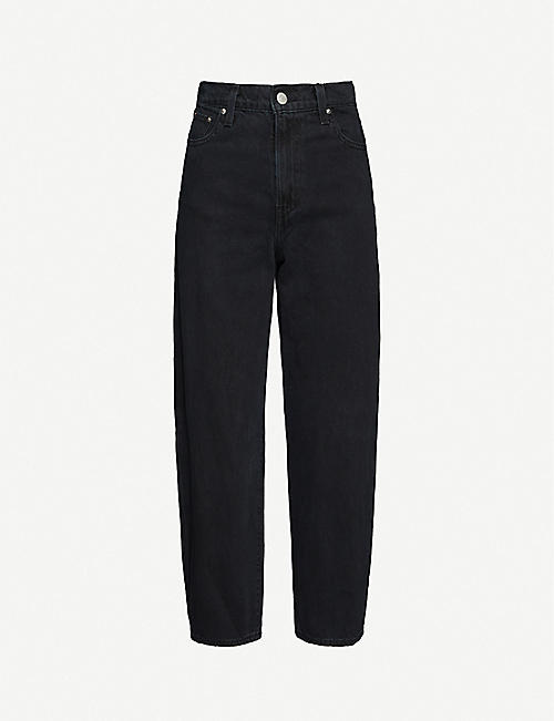 LEVIS: Cropped wide-leg high-rise jeans