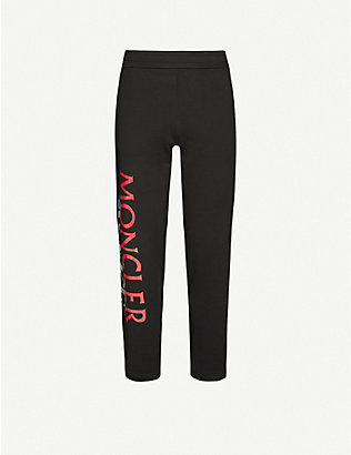 MONCLER GENIUS: Logo-print cotton-jersey jogging bottoms