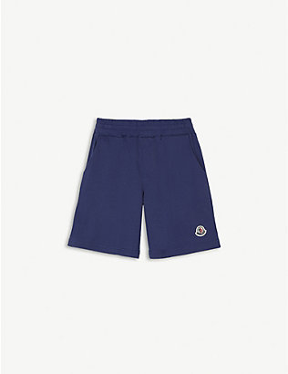 MONCLER: Logo-patch cotton shorts 4-14 years