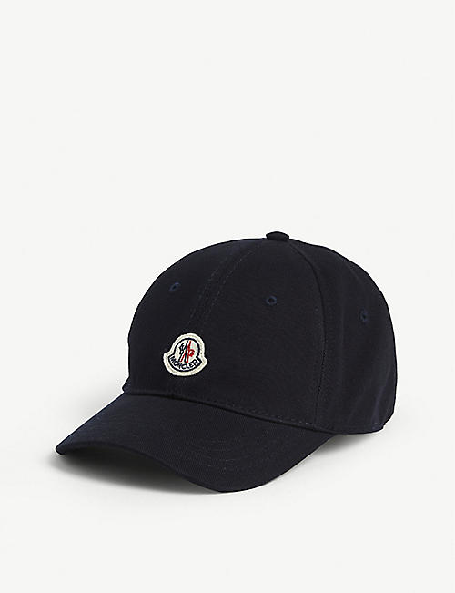MONCLER: Kids logo patch baseball cap