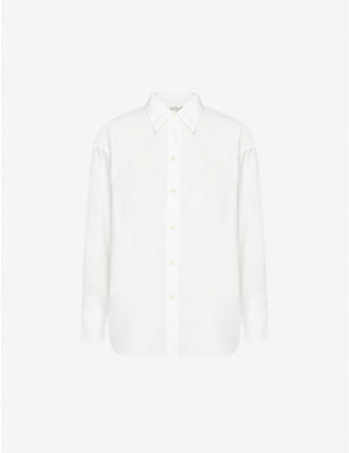VINCE: Loose cotton-poplin shirt