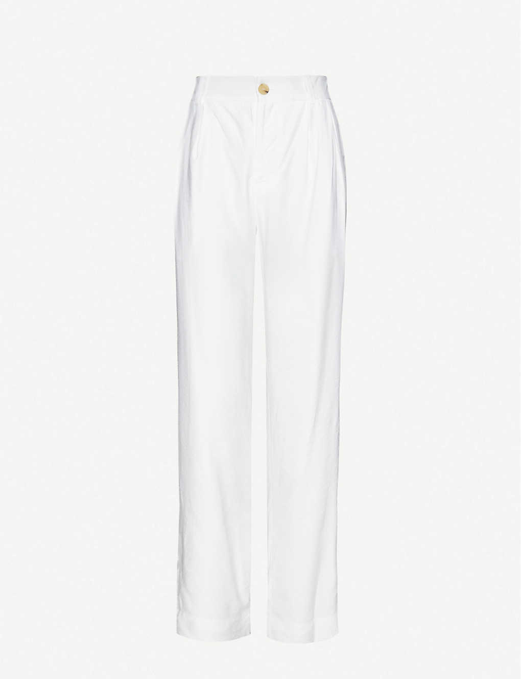 VINCE: High-waisted twill trousers