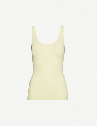 VINCE: Sleeveless cotton and modal-blend vest