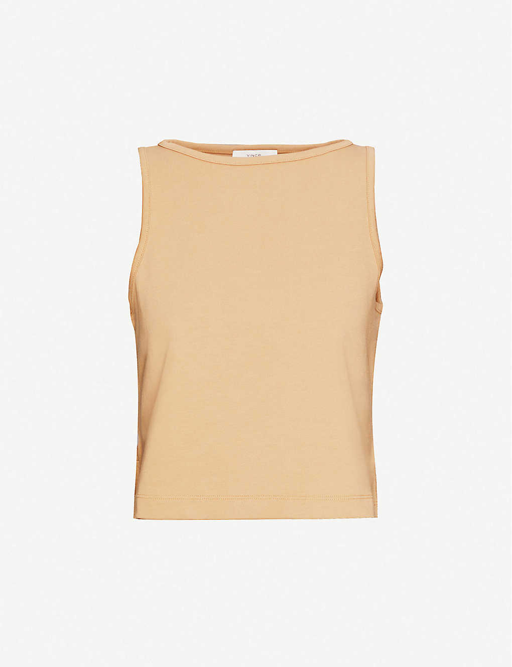 VINCE: Cropped cotton-jersey vest