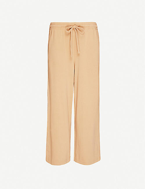 VINCE: Cropped cotton-jersey jogging bottoms