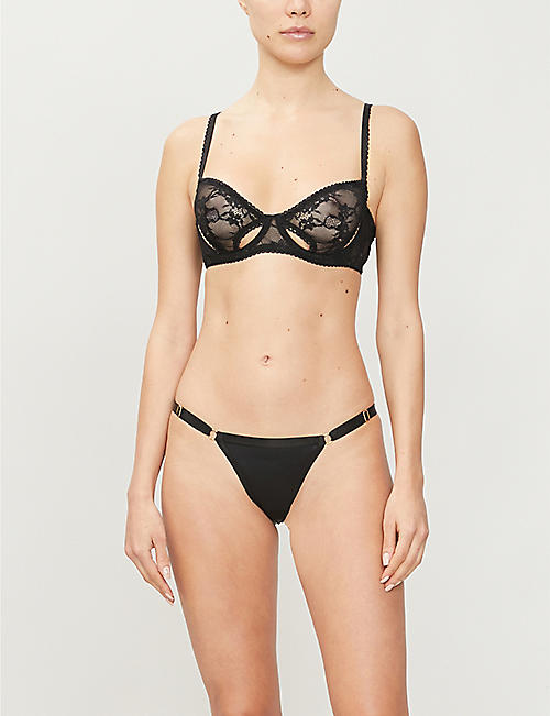 AUBADE Mini-Coeur satin briefs