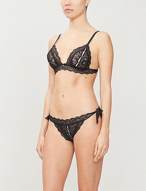 AUBADE Embellished stretch-lace lingerie set