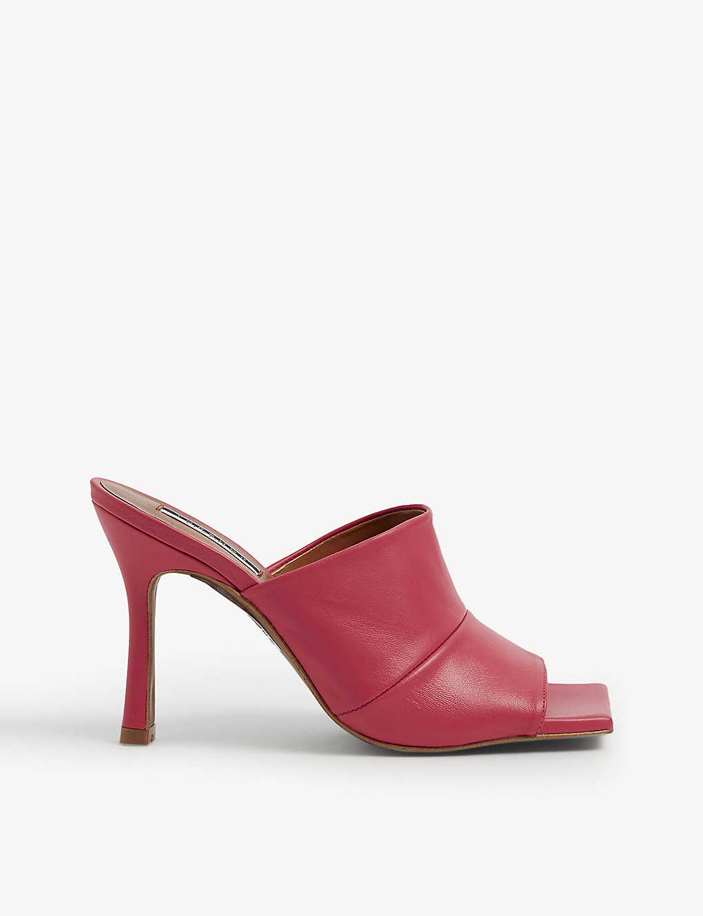 TOPSHOP: Nirvana open-toe leather mules