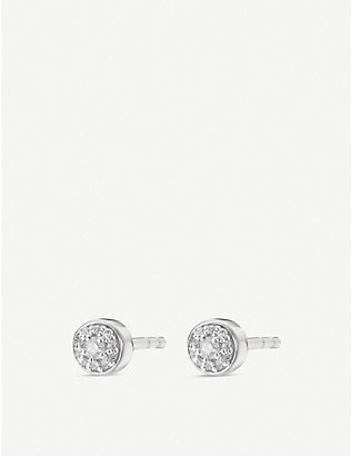MONICA VINADER: Fiji sterling silver and diamond single stud earring
