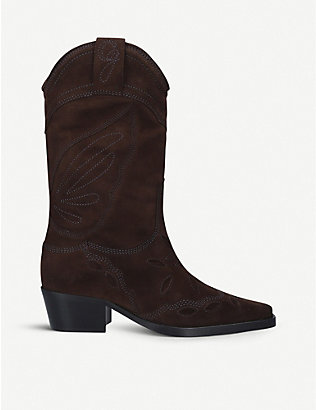 GANNI: High Texas leather heeled boots