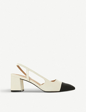 DUNE Croft leather slingback courts